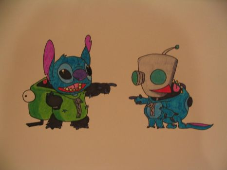 Stitch and Gir by robtheabstract