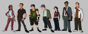 TMNT Chracter Design: People by E-Mann