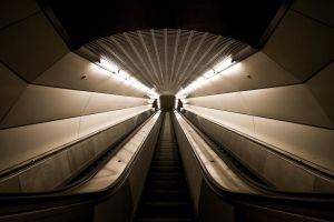 underground escalator by borny