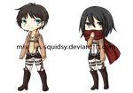 AoT keychains by Mistress-Squidsy