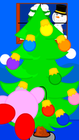 Christmas Kirby by crystalkirby