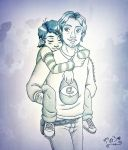 TWDG ~ Clementine and Luke by chachi411