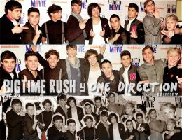 Big Time rush y One Direction by HannaAbigail1