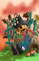 Sunset at Halloween by MarvinDMartian