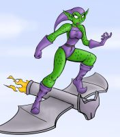 green goblin girl by chaos-07