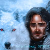 Jon Snow and Ghost by joma33