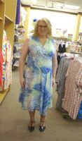 Blue Water Pattern Dress 01 by MellissaLynn