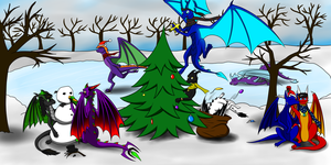 Dragon Christmast by Tomek1000
