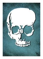 A print of recently sold skull by kwpatrick