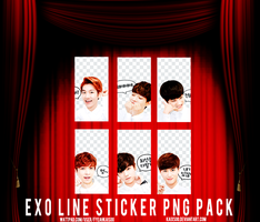 EXO Line Sticker PNG Pack by kaixsoo