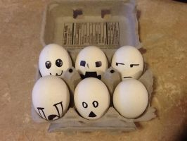 Good morning! I made you some eggs! :D by CrypticGrin
