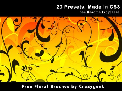 Free Floral Brushes by crazygenk