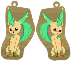 _+_special shiny Leafeon key ring pendant_+_ by katze-des-grauens