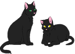Salem And Nightshade by DJMelodyKat