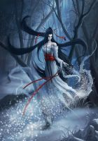 Yuki-Onna, the Snow Spirit by Takeda11