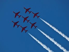 Red Arrows Close Formation Sywell 2012 by davepphotographer