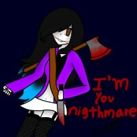 I'm you nightmare.... by Mik-Creepy