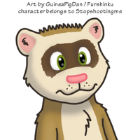 Elliot the ferret -color- by GuineaPigDan