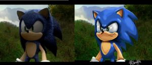 Sonic the Hedgehog Fan Film Comparison by RHSlaughter