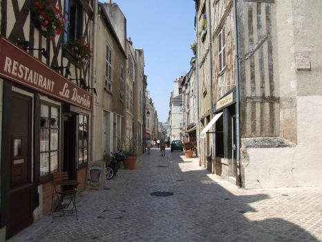 France 37: a street in Orleans by Chauve-Souris