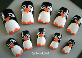 Penguin Nail Art by Animalluver1985