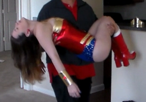 Wonder Woman Knocked Out, Defeated, Arm Carry by sweetdreamz12
