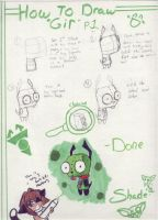 """How to draw """"Gir"""" P.1 by ShadeHellsing"""