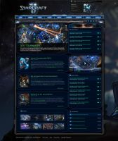 Starcraft 2 webspell template by mazzery