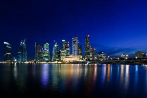 City Skyline at night by Shooter1970