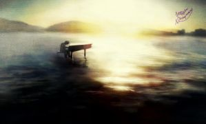 Piano on the lake by TheAdjudicator92