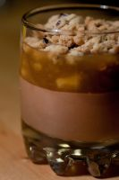 Milk Chocolate Mousse with Banana Ragout by bfrena