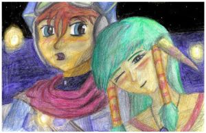 Justin and Feena by Glandrid