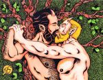 Satyr's Kiss...in color by Dharmajon
