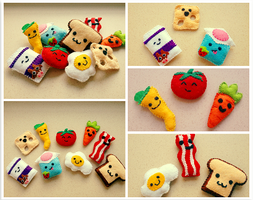 Fridge Magnet Plushies by Evilehope