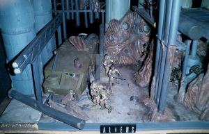 aliens colonial marines model diorama by paultag