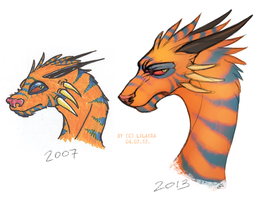 Orange dragon remake by LiLaiRa