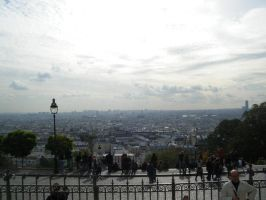Paris from La Sacre Coeur by ubergeeksrock