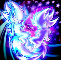 Super Sparkle and Neptune - 1000 WATCHERS!! THANKS by NeppyNeptune