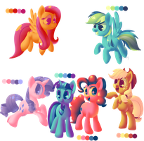 Palette Colour Ponies by Zoiby