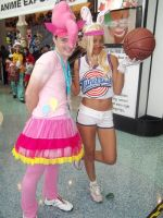 Pinkie Pie and Lola Bunny cosplay by xAleux