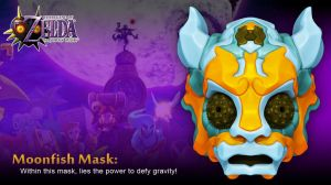 72-Hour Majora's Mask Contest Entry: Moonfish Mask by Requiemsvoid