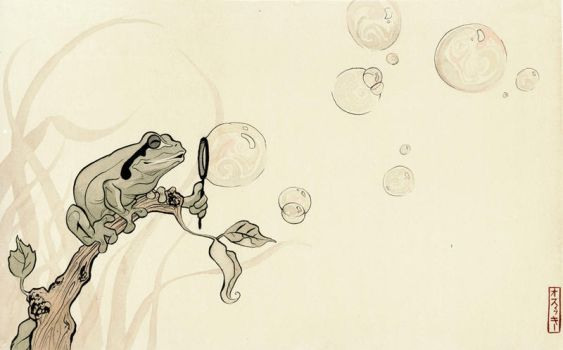 Frog Bubbles by Katie-O