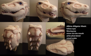 Albino Alligator Mask by Toriroz