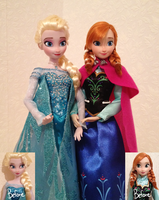 Elsa and Anna OOAK dolls by frozenblume