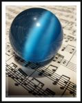 blue music crystal drop by royov