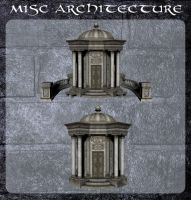 3D Misc Architecture 6 by zememz