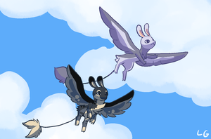 Snitch and Ace Being Fly by LunarGravity