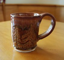 Ceramic Brown Tree Themed Mug by ashynekosan