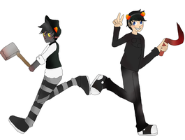 Onceler and Karkat by melloLUVMATTYOAI