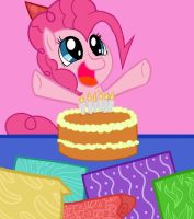Pinkie say HAPPY BIRTHDAY by Doggie999